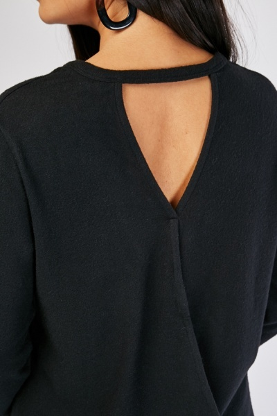 Keyhole Wrap Back Top