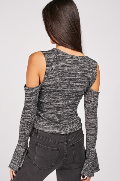 Cut Out Speckled Lurex Top