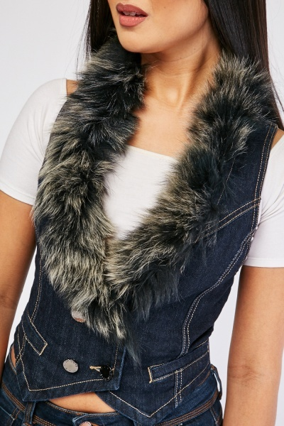 Sleeveless Denim Top