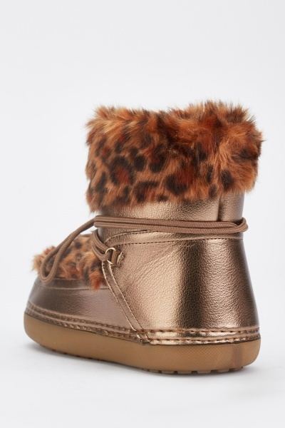 Leopard Pattern Winter Boots