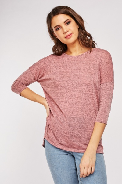 Speckled Mauve Top