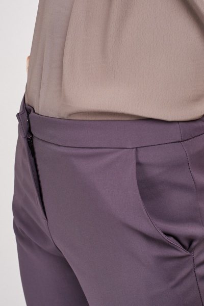 Dark Mauve Straight Fit Trousers