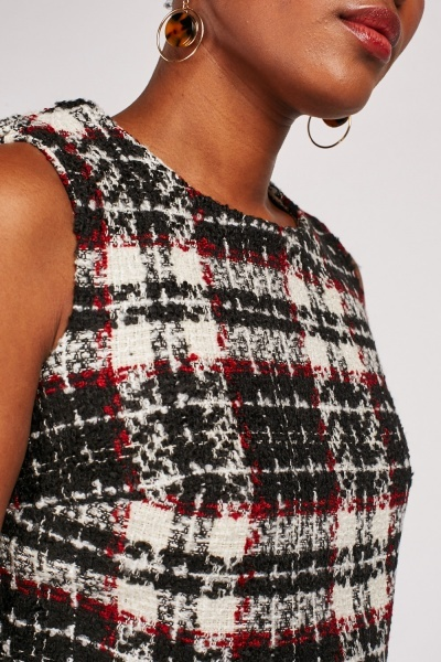 Frayed Edge Tweed Crop Top