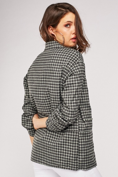 Cheeckered Oversize Shirt