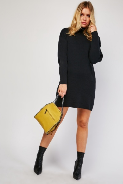 Plain Long Knit Jumper Dress