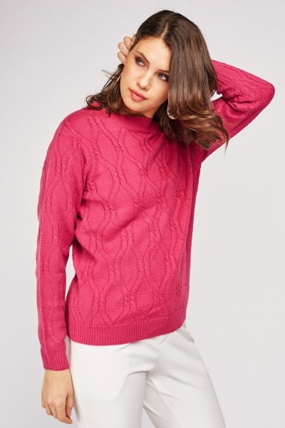 Repeat Pattern Knit Jumper