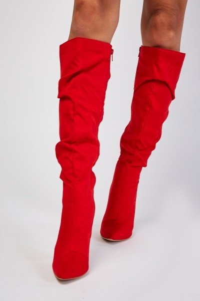 Knee High Ruched Boots