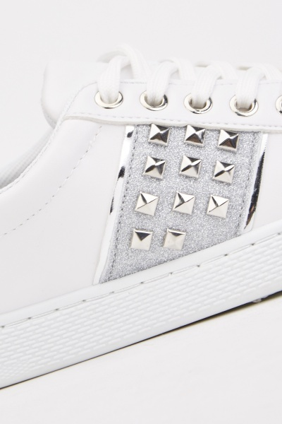 Studded Side Low Top Trainers