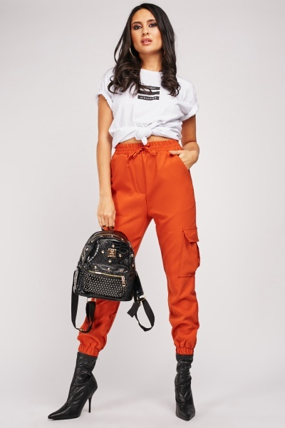 Multiple Pocket Side Cargo Trousers