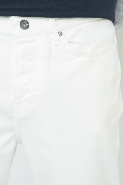 Straight Fit White Jeans