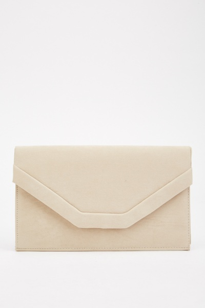 Suedette Envelope Bag
