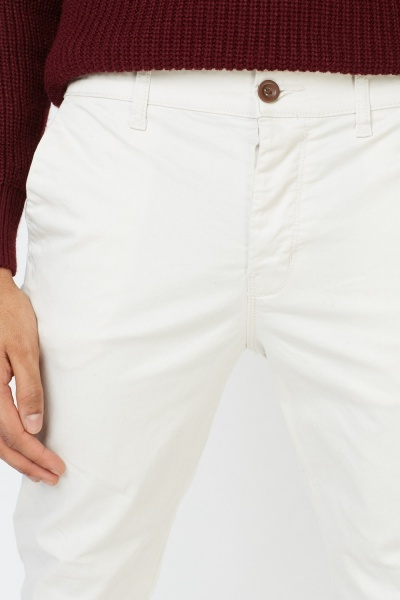Light Sand Straight Fit Jeans