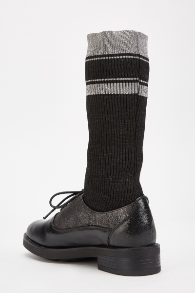 Lurex Sock Insert Oxford Shoes