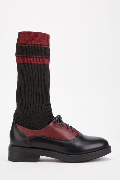 Rib Sock Insert Oxford Shoes