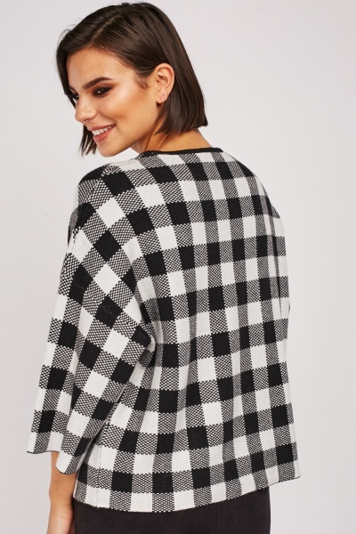 Gingham Knit Sweater