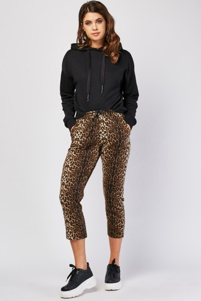 Animal Print Crop Trousers