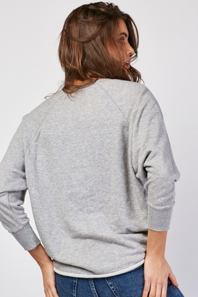 Faded Print Slouchy Sweatshirt