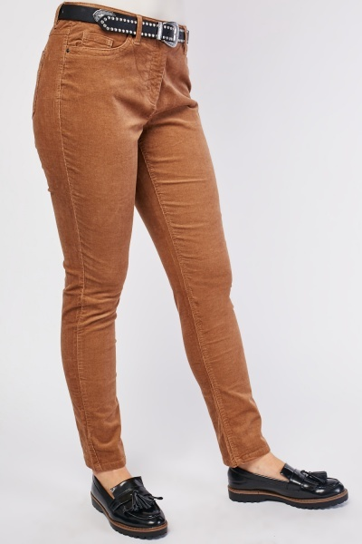 Straight Cut Relaxed Cord Trousers