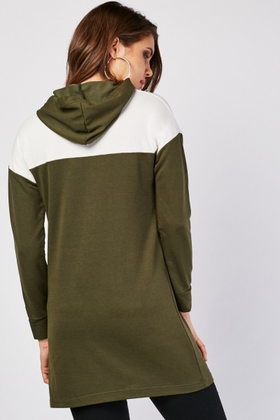 Long Sleeve Colour Block Hoodie