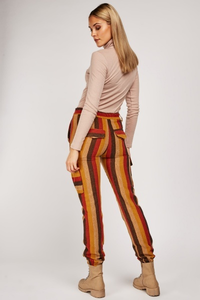 Multi Striped Woven Trousers