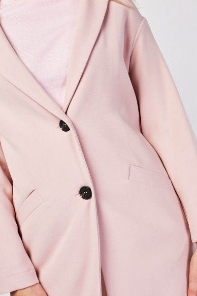 Slanted Pocket Front Coat