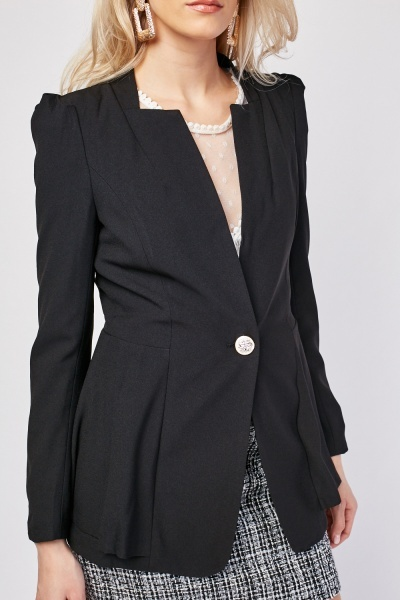Structured Open Front Blazer
