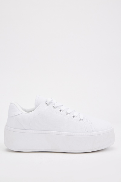 Lace Up Chunky Platform Plimsolls