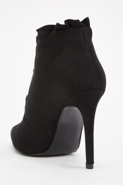 Ruffle Front Cut Out Boots