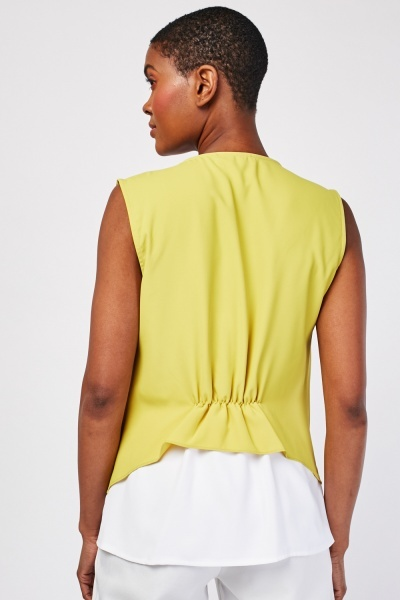 Two-Tone Contrast Shell Top