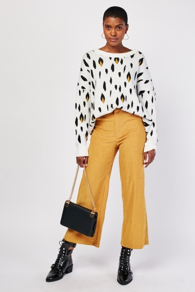 Wide Leg Cord Trousers