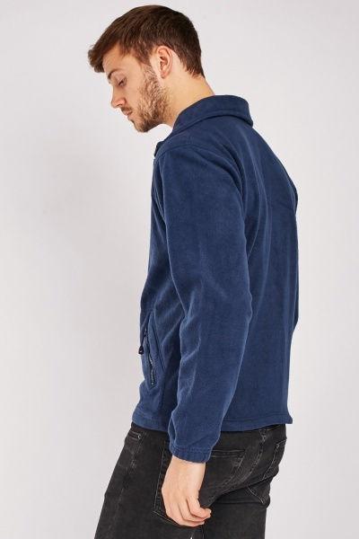 Zip Up Fleeced Jumper