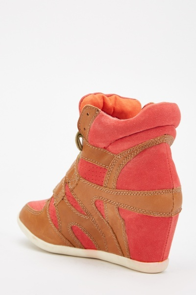 Top Stitched Wedge Ankle Boots