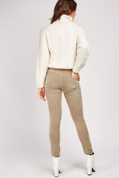 Low Waist Cord Trousers