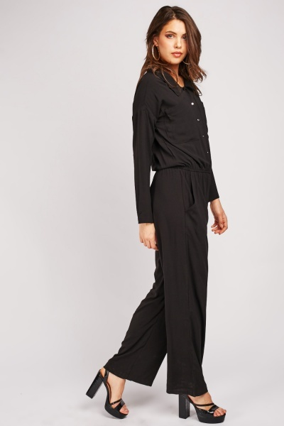 Wide Leg Utility Jumpsuit