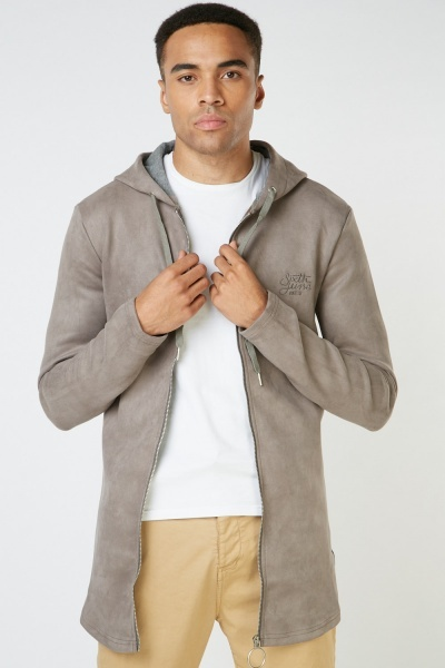 Suedette Basic Hooded Jacket