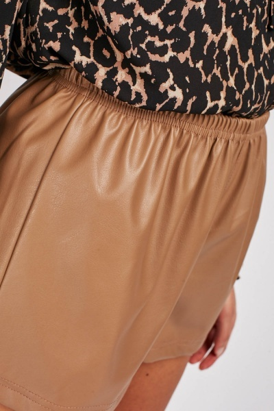 Faux Leather Sand Shorts