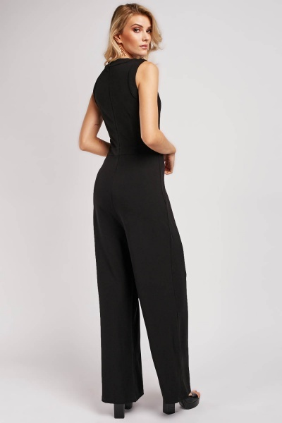 Encrusted Sleeveless Jumpsuit