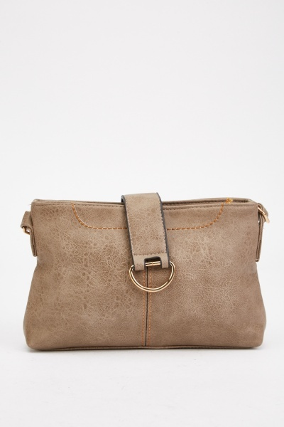 Top Stitched Cross Body Bag