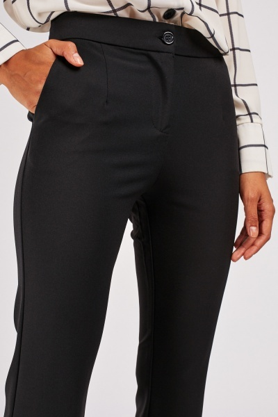 Lace Trim Cigarette Trousers