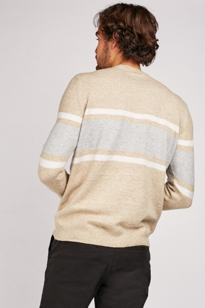 Round Neck Stripe Jumper