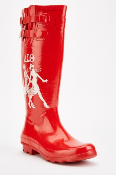 Printed Wellington Boots
