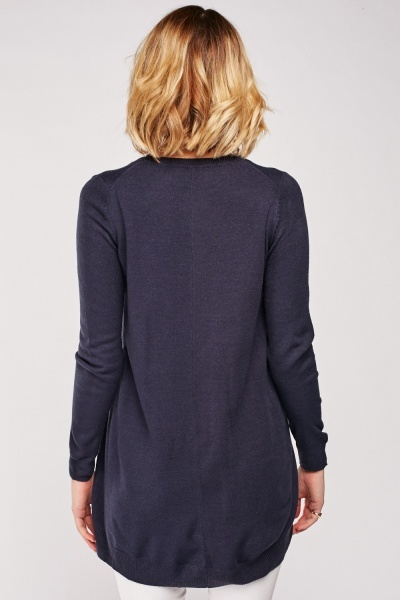 V-Neck Plain Knit Sweater