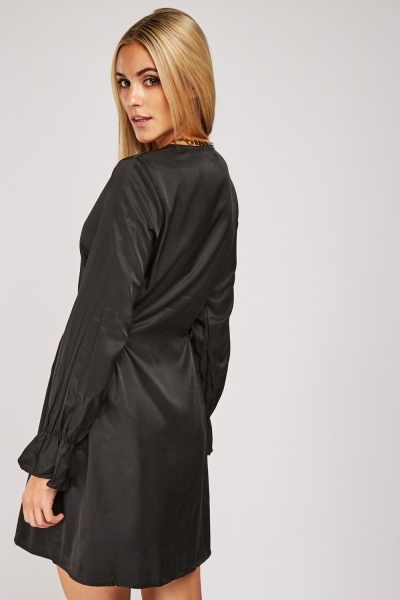 Shirred Side Tunic Dress