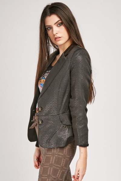 Shimmery Embroidered Blazer