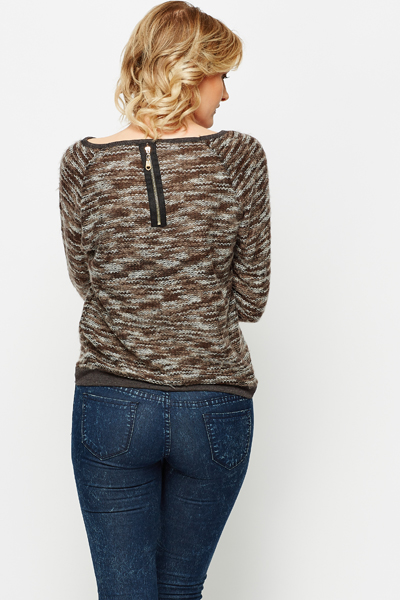 Fleece Wave Knitted Top