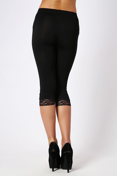 Lace Hem Short Leggings Just 163 5