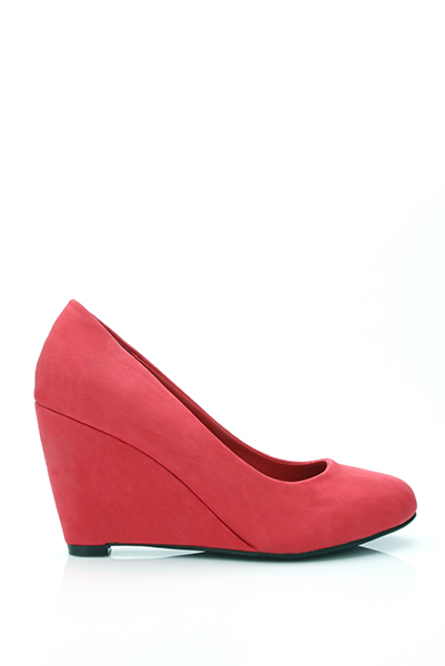 Classic Faux Leather Wedge Shoes