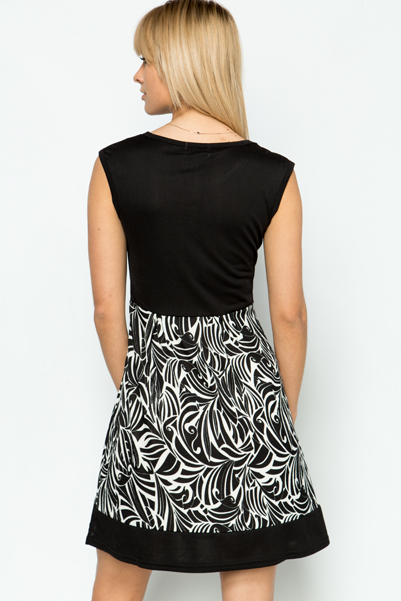Contrast Tapestry Dress