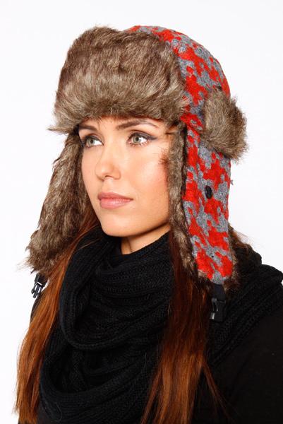 e12f0cca1efca5 Faux Fur Woven Knit Trapper Hat - Just £5