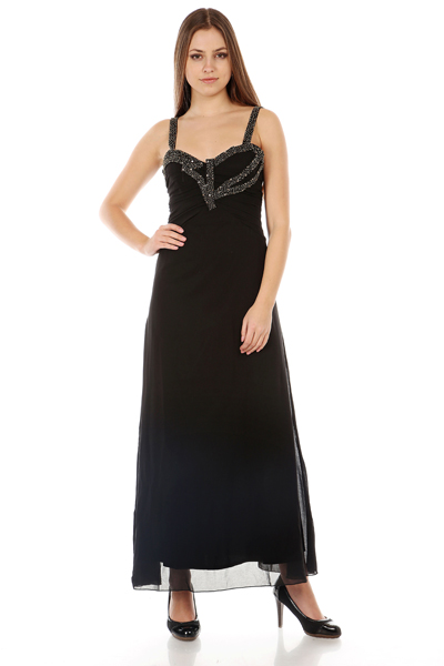 Embellished Strap Maxi Dress